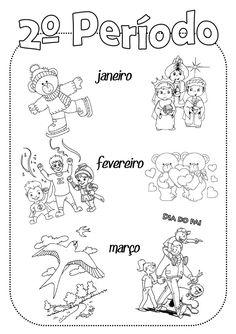 Capa separadora de 2º período School Days, Teaching, Education, Words, Art, Seasons Months, Moths Of The Year, Preschool Routine, Preschool Winter