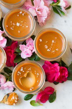 Salted Caramel Pots de Creme   Cooking Classy