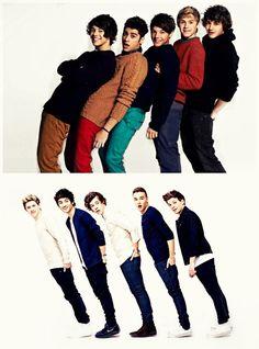 One Direction.  Zayn.  Louis.  Niall.  Liam.  Harry. 2011/2013.