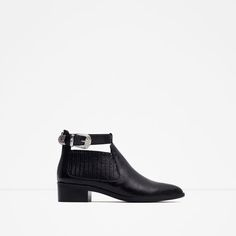 Image 1 of FLAT BOOTIE WITH ANKLE STRAP from Zara