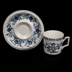 Kensington Blue Onion Coffee Tea Cup & Saucer Staffordshire Ironstone England  #TeaCup &Saucer #Kensington #BlueOnion #SomeLikeItUsed