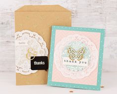 'Thank you' | Home Made | Jen Hadfield | Card making with Pebbles Inc.