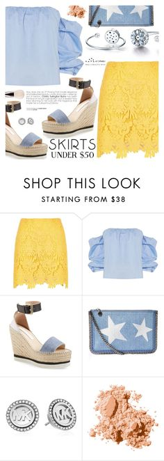 """""""Skirts Under $50"""" by totwoo ❤ liked on Polyvore featuring River Island, Bardot, See by Chloé, STELLA McCARTNEY, Michael Kors, Bobbi Brown Cosmetics and MAC Cosmetics"""