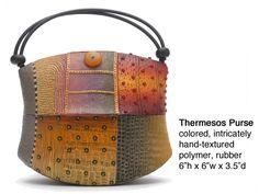 polymer clay bag, World Traveler Series   Kathleen Dustin