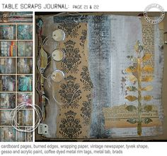 Art journal page by Michelle Ward