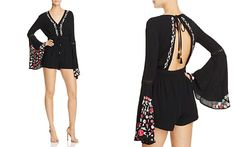 RahiCali Poppy Embroidered Romper