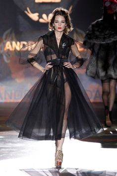 Andres Sarda high fashion sheer robe.