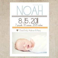 Shabby Chic Baby Announcement