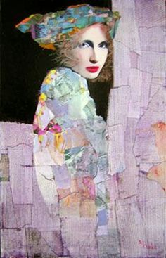 (France) by Richard Burlet ). Oils and collage. Figure Painting, Painting & Drawing, Richard Burlet, L'art Du Portrait, Figurative Kunst, Kunst Online, Paintings I Love, Beautiful Paintings, Face Art