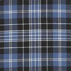 Clark Ancient Tartan  The Clark Ancient tartan is predominantly blue, black and white.