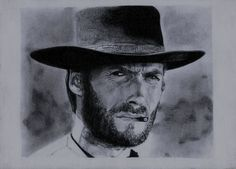 Clint Eastwood #Pencil #Portrait #Realism