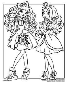 Images For Ever After High Coloring Pages To Print Apple White