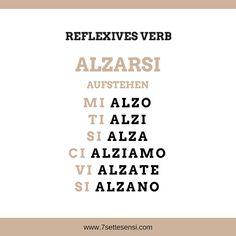 Italienische Verben: Wie im Deutschen gibt es auch im Italienischen reflexive Verben. Ein reflexives Verb im Italienisch muss nicht zwangsläufig auch im Deutschen reflexiv sein.