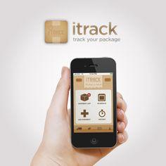 Itrack Iphone App by Annie JQ Liu, via Design Dashboard Mobile, Mobile App Ui, Web Design, Icon Design, Design Trends, Ios, Android, Mobile Ui Design, Ui Design Inspiration