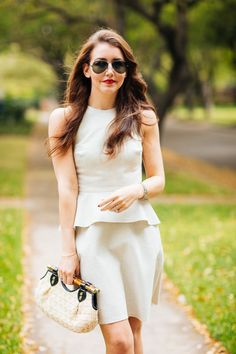 Dallas Blogger Amy Havins shares a spring outfit from the Banana Republic Classics Collection.