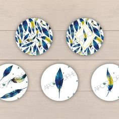 """60 images digitales pour bijoux """"plumes n°9"""""""