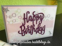 Geburtstagskarten Vorrat aufgefüllt | Melli's StempelParadies