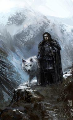 33 dibujos de Jon Snow y Ghost para usar como wallpaper – Game of Thrones – It's Spoiler Time! Fantasy Landscape, Fantasy Art, Jon Snow, Game Of Thrones Books, King In The North, Medieval, Art For Art Sake, Fantasy Characters, Black Art