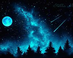 Glow in the Dark Star Ceilings, Murals and Canopies by StellaMurals - Glow in the Dark Mural Glow In Dark Paint, Glow Paint, Spray Paint Art, Night Sky Painting, Galaxy Painting, Galaxy Art, Night Sky Wallpaper, Dark Wallpaper, Galaxy Wallpaper