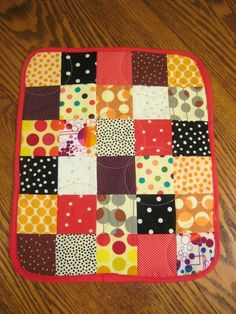 polka dot quilt from eleven stitches