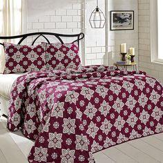 VHC Brands, Inc. - Adelaide Boysenberry King Set; Quilt 95x105-2 Shams 21x37 #
