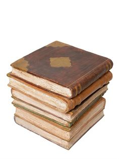 CERAMICHE PUGI - CERAMIC BOOKS ACCENT TABLE - LUISAVIAROMA - LUXURY SHOPPING WORLDWIDE SHIPPING - FLORENCE