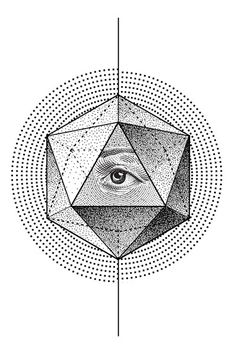 Collection of Geometric Line Drawings by Eric Schmidt, via Behance