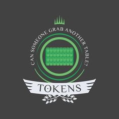 Tokens archetype shirt design for magic the gathering #mtg #shirt #design #tokens #humor #magicthegathering