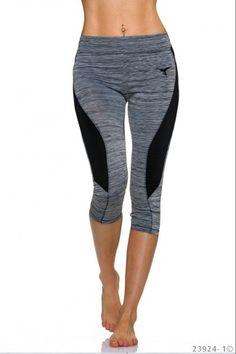 Αθλητικό κολάν μήκους 3/4 - Γκρι Μαύρο Pajama Pants, Pajamas, Fashion, Sleep Pants, Moda, Fashion Styles, Fashion Illustrations, Pajama, Pyjamas