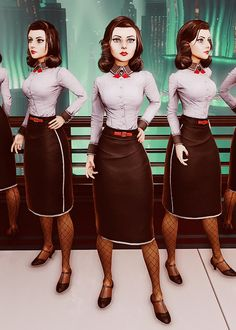 Ken Levine Teases 'BioShock Infinite: Burial at Sea' DLC Story Gameplay Details - Game Rant hmmm cosplay bioshock rapture elizabeth? Bioshock Infinite Elizabeth, Bioshock Game, Bioshock Series, Bioshock Cosplay, Halloween Cosplay, Cosplay Costumes, Halloween Costumes, Cosplay Ideas, Costume Ideas