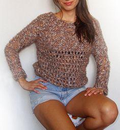Jersey de lana a ganchillo por anacroche en Etsy, €80.00