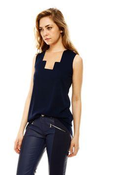 geometric design //tulle detail// Daniela Corte Silk Tunic