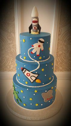 Spaceship n Austronout bday cake