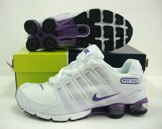 best website a5150 a41ea Shox Womens Nike Shox Stripe White Purple  Womens Nike Shox - Extremely athletic  Womens Nike Shox Stripe White Purple shoes can let your perform well.