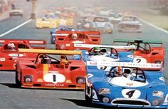 François Cevert ahead of Jacky Ickx after the start of the 1000 Kms in 1973