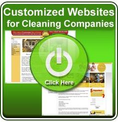 Customized Websites for Cleaning Companies