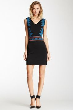 Romeo & Juliet Couture V-Neck Tribal Knit Dress by Non Specific on @HauteLook