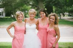 Bridal Party | Ready or Knot | Omaha Bridal Shop @ready_or_knot Amsale Bridesmaid, Bridesmaid Dresses, Wedding Dresses, Bridesmaids, Coral Wedding Colors, Hue, Knots, Bridal, Wedding Stuff