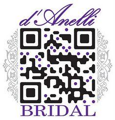 Pretty QR code for a bridal shop