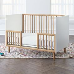 Mid-Century Spindle Toddler Rail at Crate and Barrel Canada. Discover unique furniture and decor from across the globe to create a look you love. Ikea Crib, Diy Crib, Ikea Bed, Diy Bed, Ikea Toddler Bed, Jungle Theme Nursery, Nursery Themes, Unique Furniture, Custom Furniture