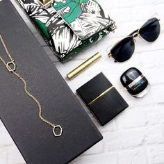 "RM Gold Geometric Pavé Y Necklace 15"" with a 7"" drop. NWT and pouch. 11291509 Rebecca Minkoff Jewelry Necklaces"