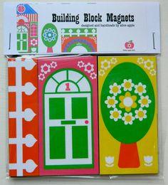 building block magnets - alice apple