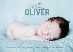 photo baby birth announcement boy or girl - welcome baby.