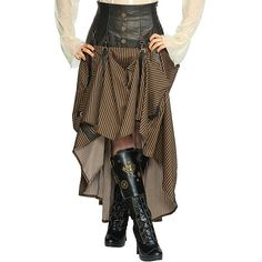 Intrepid Steampunk Skirt Living Dead Souls Voodoo Vixen Gothic Punk... ($80) ❤ liked on Polyvore