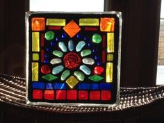 Stained Glass Mosaic Glass Blocks for $35 at Paper Collector in St Cloud www.colorfulgirl.com