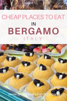 When visiting Italy, you can still eat to your heart's content and be easy on your wallet with these cheap places to eat in Bergamo, Italy. #visitingitaly