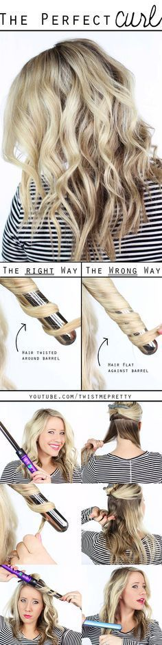 Perfect curl using a wand curling iron