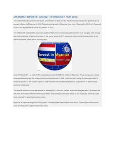 Myanmar update growth forecast for 2012
