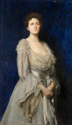 Mrs Edwin Tate (1853–1935) (The Lady in Grey)  1904 by Sir Hubert von Herkomer (British 1849-1914)
