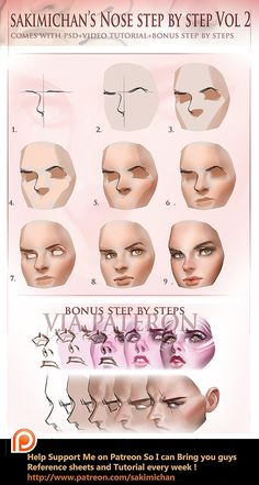 Nose step by step Vol 2 tutorial (term 5 reward)  https://www.patreon.com/creation?hid=1510431&rf=371321